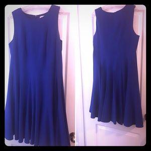 Cobalt Blue Calvin Klein Fit & Flare Midi Dress!